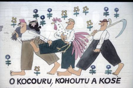 O kohoutu, kocouru a kose (TEXT)